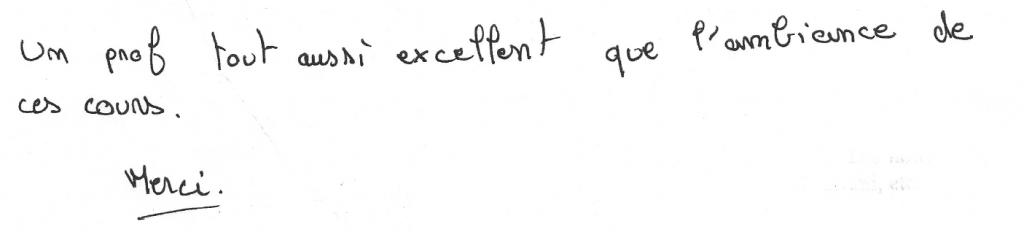 un prof excellent