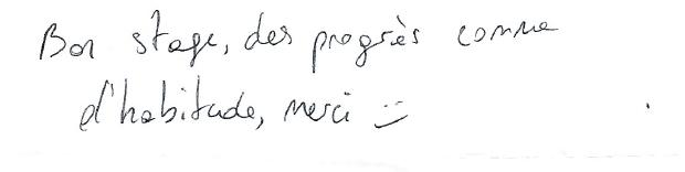 Des progrès comme d'habitude